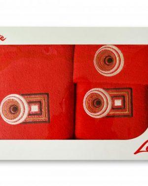 komplet uterakov kruh cervena