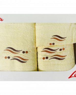 komplet uterakov vlnky kremova