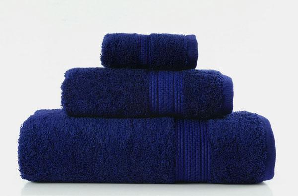 egyptska bavlna uteraky osusky tmavo modra