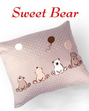 sweet bear detska navliecka vankusik