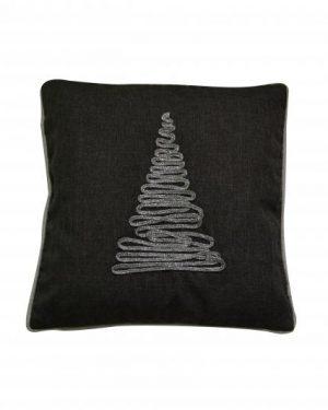 vianočná dekoracna obliečka stromcek čierna 40x40