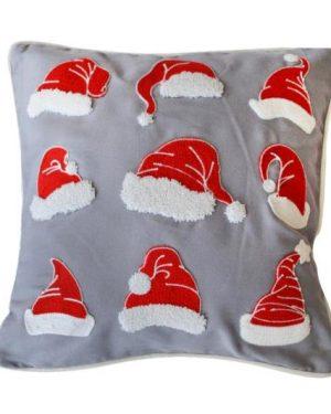vianočne dekoracne obliečky santa siva 40x40