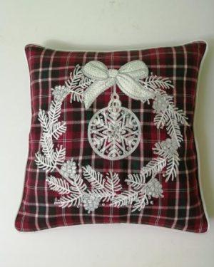 vianočne dekoračne obliečky vyšívane 40x40