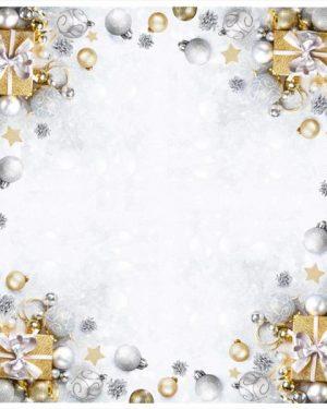 Vianočný obrus na stôl ii sivý