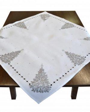 Vianočný obrus Stromček biely
