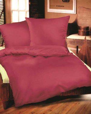 Jednofarebné obliečky bavlnený satén fuksia