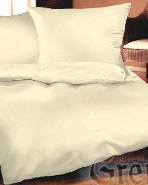 Jednofarebné obliečky bavlnený satén krémové 220x200