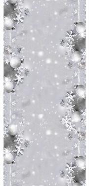 Vianočný obrus na stôl sivý 40x140cm