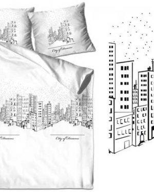 city-of-dream-biela bavlna obliečky