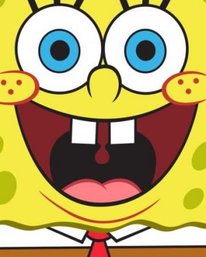 detske uteraky sponge bob face