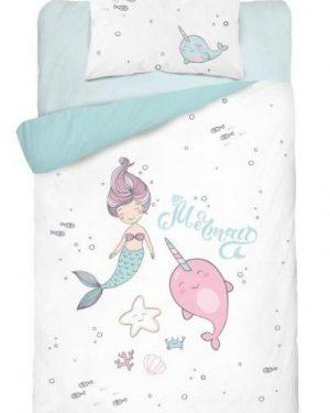 detske obliecky do postielky mermaid modre