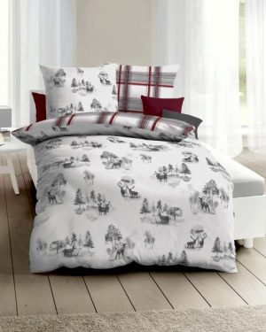 vianocne flanelove obliecky jelene 140x200