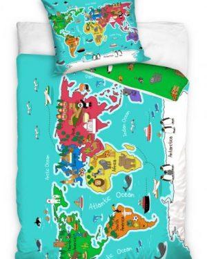 detske obliecky mapa sveta