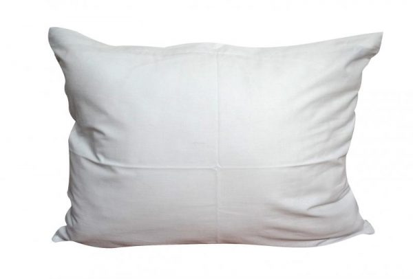 jednofarebne bavlnene obliecky na vankuse 40x50 biela