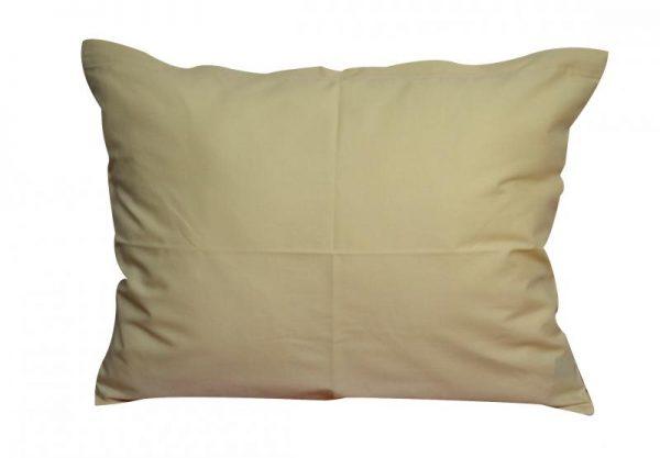 jednofarebne bavlnene obliecky na vankuse 40x50 kremova