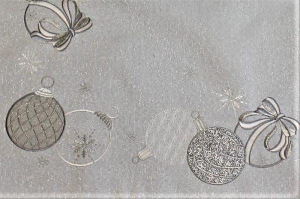 vianočný obrus vyšívaný biely