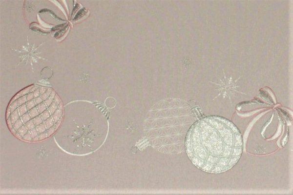 vianočný obrus vyšívaný ruzovy