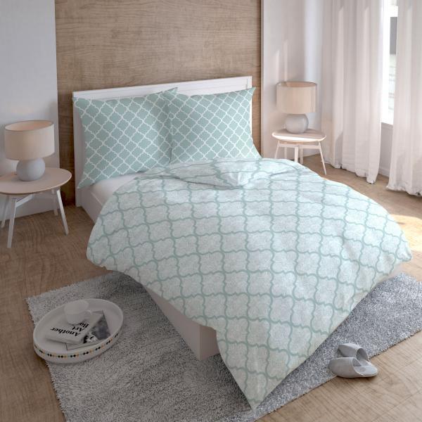 Bavlnené saténové posteľné obliečky Spiral