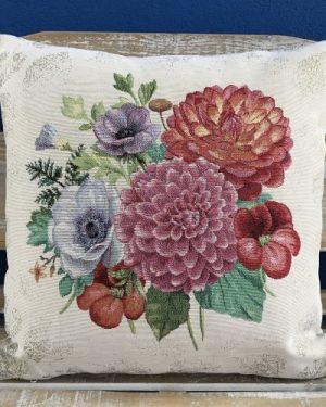 Gobelínová dekoračná obliečka Kvety
