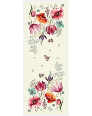gobelinová štóla na stôl jarne kvety