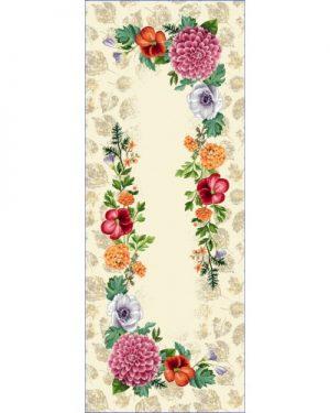 gobelinová štóla na stôl kvety