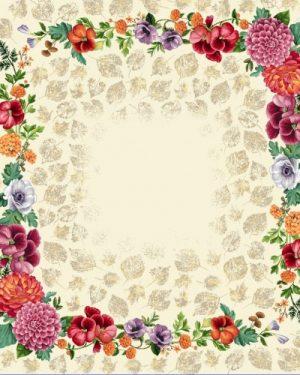 gobelinovy obrus kvety 100x100