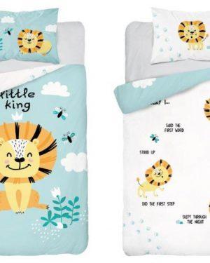 Bambusové posteľné obliečky do postieľky Lev