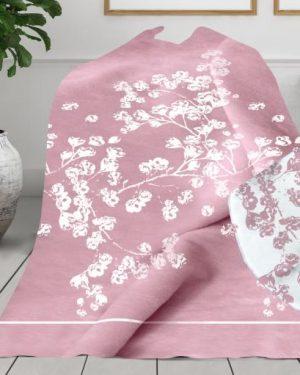 luxusná deka kyoto ružova