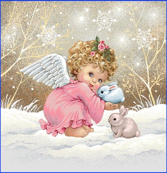 Gobelínová dekoračná obliečka vianočná Anjelik