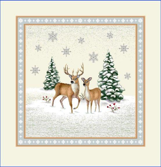Gobelínová dekoračná obliečka vianočná Jelene