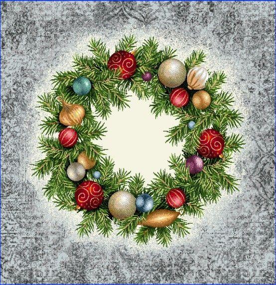 Gobelínová dekoračná obliečka vianočná Veniec