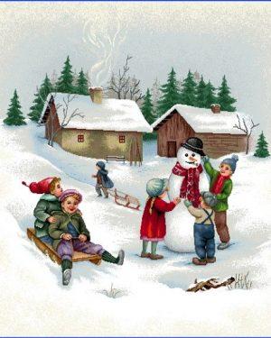 Gobelínová dekoračná obliečka vianočná Zimné obdobie