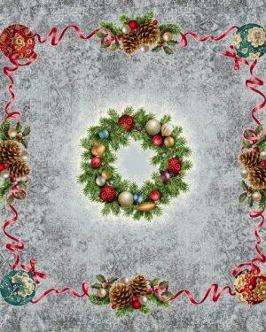 Vianočné gobelinové obrusy Veniec