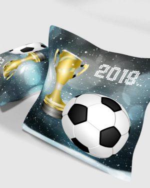dekoracny vankus futbal sivy