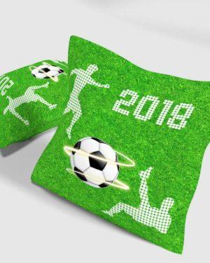 dekroačný vankúš zelený futbal